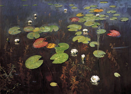 Water Lilies, Isaac Levitan (22x30.5)