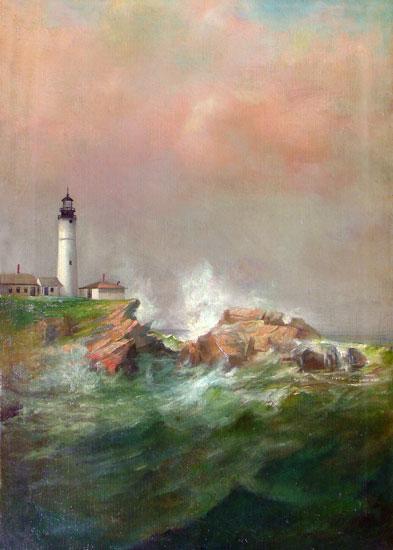 Portland Light, Lemuel D. Eldred (15.7X22)