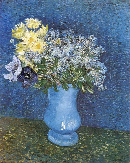 Lilacs, Margueritesand Anemones, van Gogh (16X20)