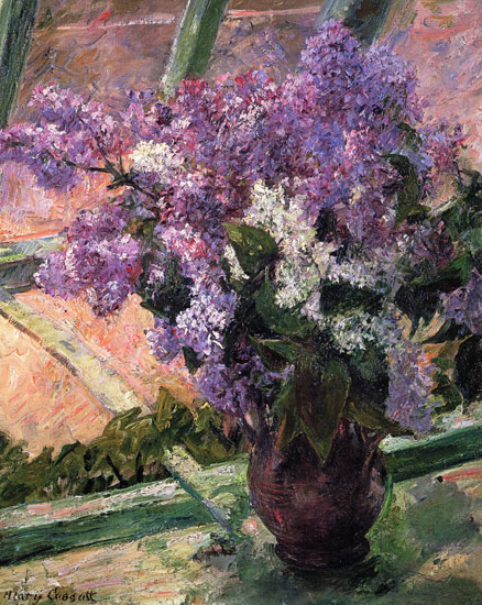 Lilacs in a Window, Mary Cassatt (17.5X22)