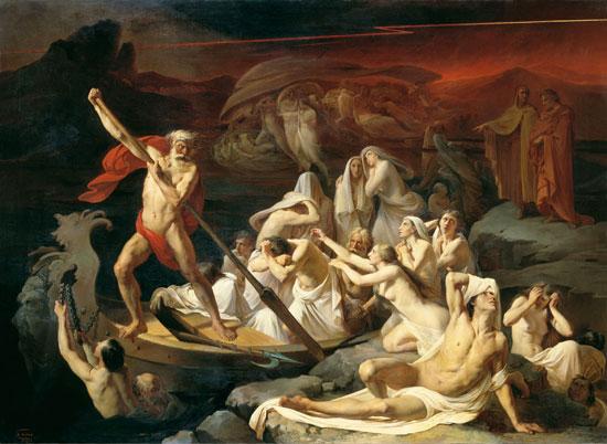 Charon Carries Souls Across the River Styx, Litovchenko (20x27.4)