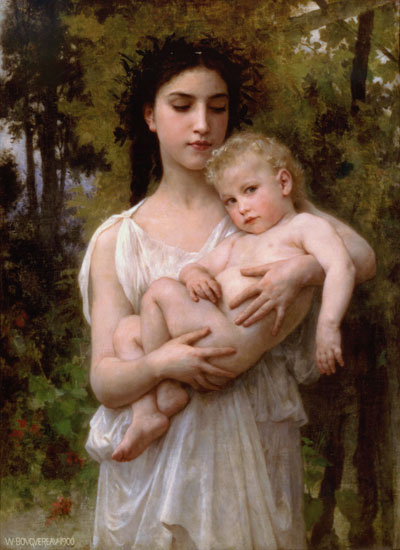 Little Brother, William-Adolphe Bouguereau (16x22)