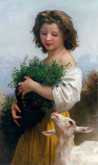 Little Esmeralda, William-Adolphe Bouguereau (16X26.75)