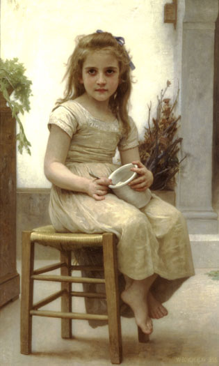The Little Gourmet, Bouguereau (12X20)