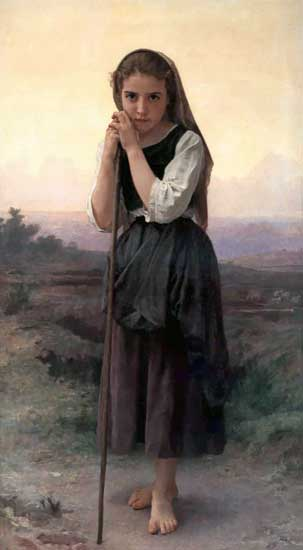 The Little Shepherdess, William Bouguereau