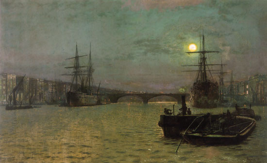 London Bridge at Half Tide, John Atkinson Grimshaw