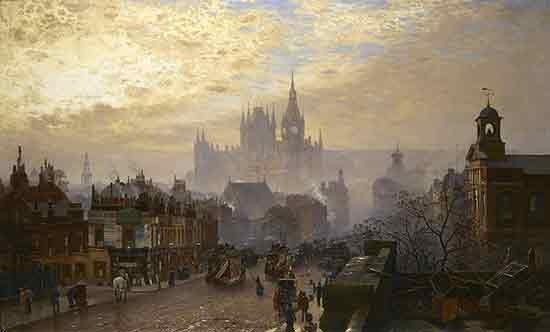 London, from Pentonville Road Looking West, Evening, John O'Conner