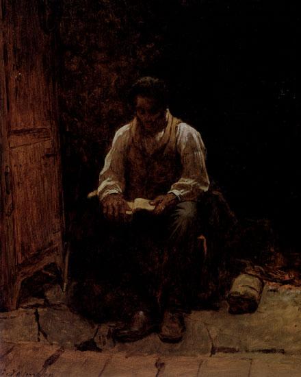The Lord is My Shepherd, Eastman Johnson (16X20)