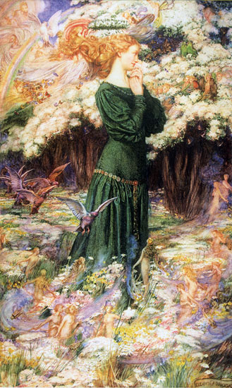 The Lover's World, Eleanor Fortescue-Brickdale (16X26.75)