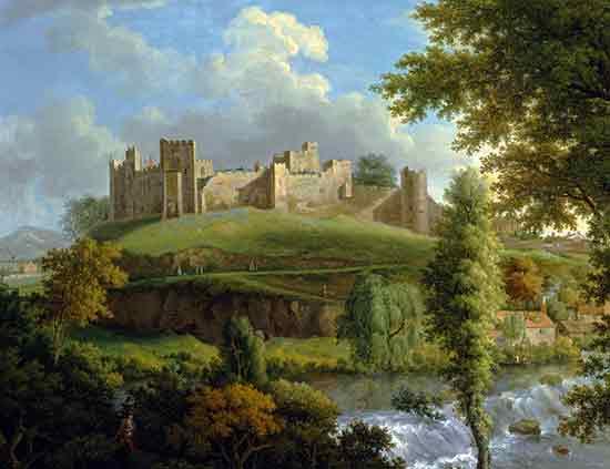 Ludlow Castle with Dinham Weir, Samuel Scott