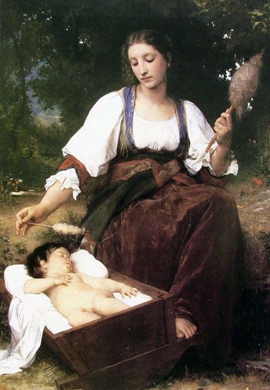 Lullaby, William Bouguereau
