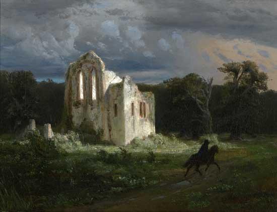Moonlit Landscape, Arnold Bocklin