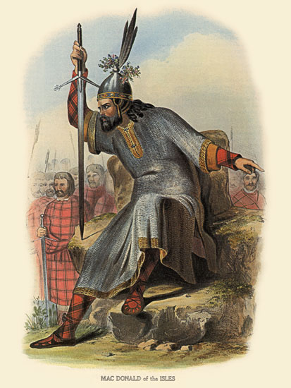 Clan MacDonald of the IslesTartan, McIan (12X16)