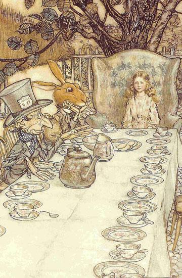 Mad Hatter, Arthur  Rackham (10X15.3)
