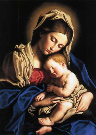 Madonna and Child, Il Sassoferrato (16X22)