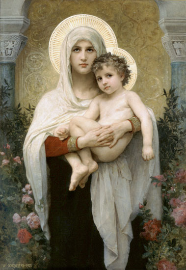 Madonna of the Roses, Bouguereau (16X23.25)