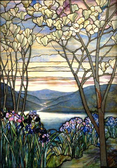 Magnolias and Irises, Louis Comfort Tiffany