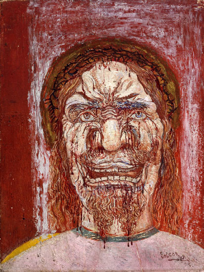Man of Sorrows, James Ensor (16X21.25)