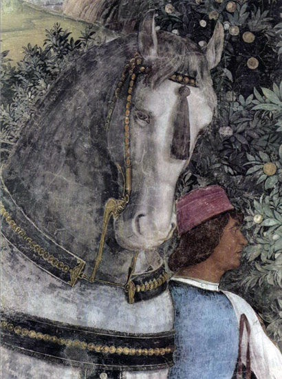 Horse and Groom, detail,  Andrea Mantegna (16X21.25)