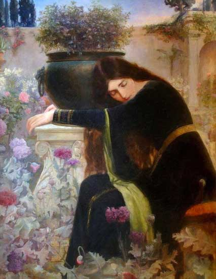 Isabella and the Pot of Basil, Manton (16X20.5)