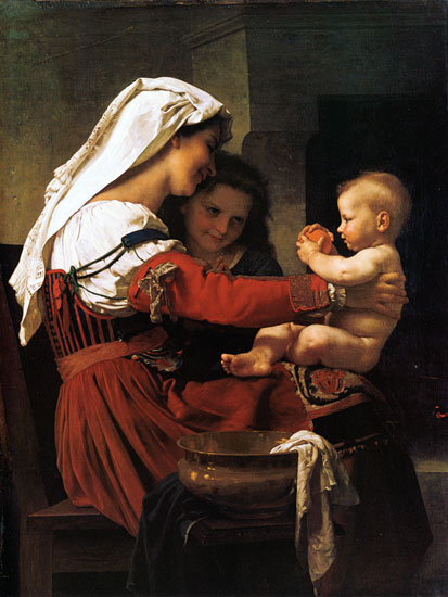 Maternal Admiration, William-Adolphe Bouguereau (16X26.75)