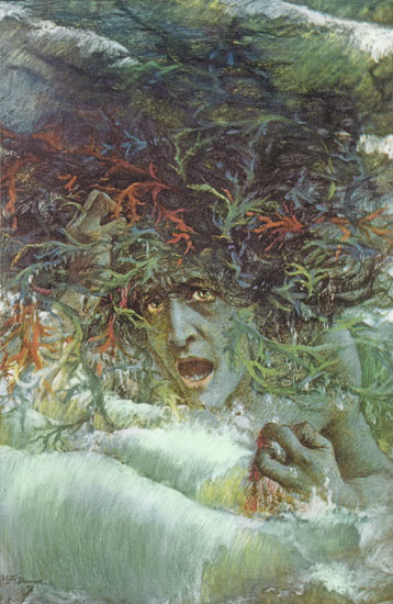 Medusa, The Angry Wave,L�vy-Dhurmer (13X20)