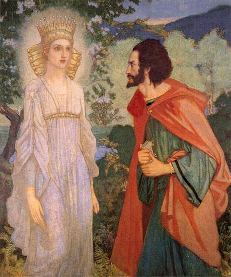 Merlin and the Fairie Queen, John Duncan (18.25x22)
