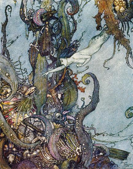 Mermaid, Edmund Dulac (9X11.5)