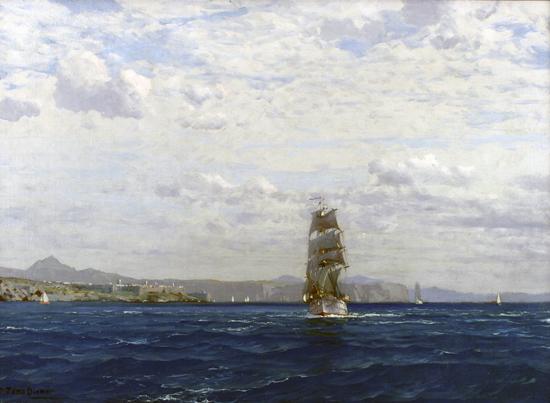 Sailing off the Coast of Kilitbahir, Diemer (22x30)