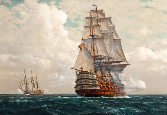 Ship at Sea, Diemer (22x32)