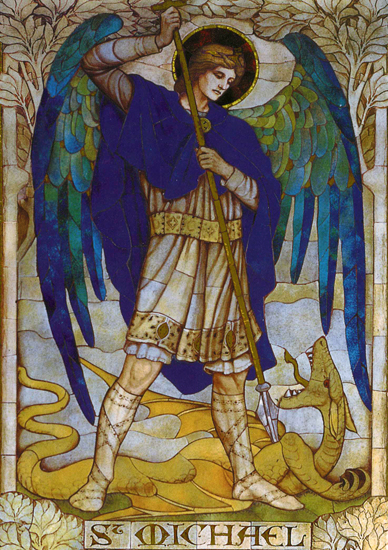 Archangel Michael (From a mosaic) James Powell (18X25)