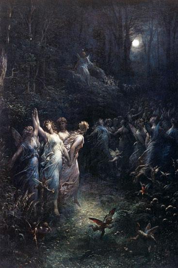 A Midsummer Night's Dream, Gustave Dor� (16X24)