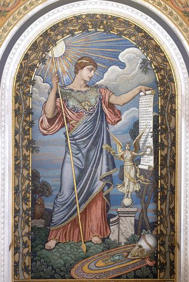 Minerva (print of mosaic), Elihu Vedder (22X32)
