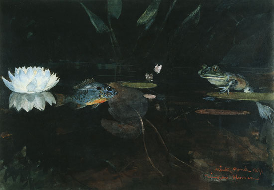 The Mink Pond, Winslow Homer (16X25)
