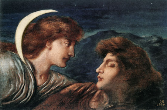The Moon an Sleep, Simeon Solomon (14.5X22)