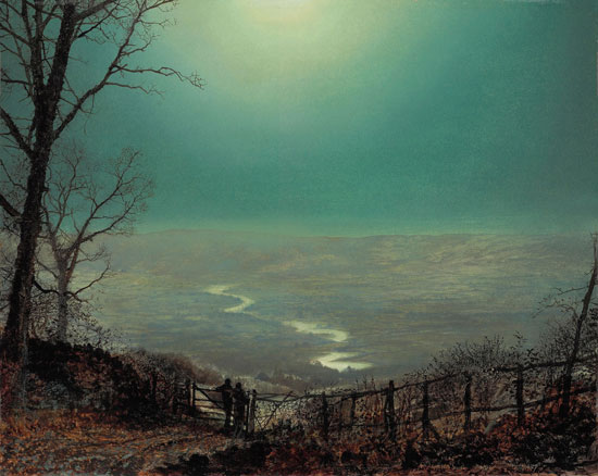 Moonlight at Wharfedale, John Atkinson Grimshaw (17.5X22)