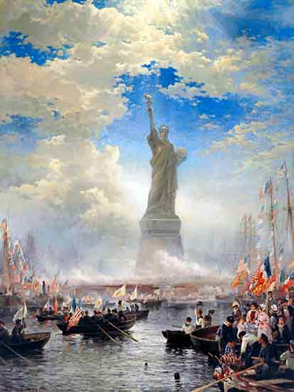 Commerce of Nations Rendering Homage to Liberty , Edward Moran