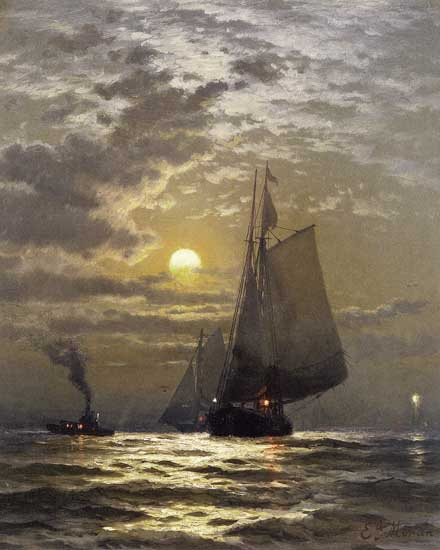 Sailing in New York Harbor, Moran