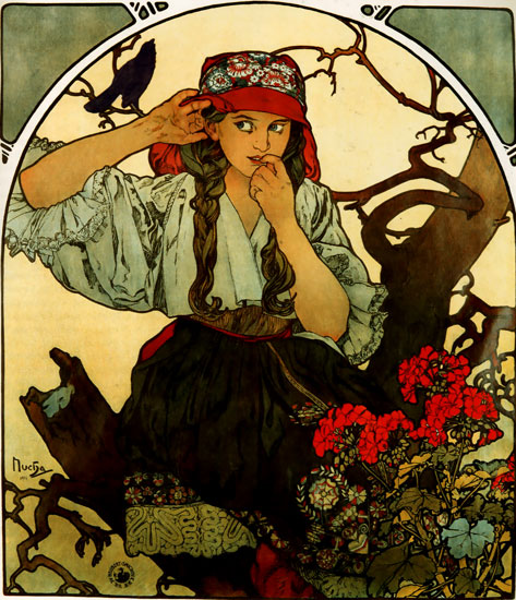 Moravian Teachers Choir, Alphonse Mucha