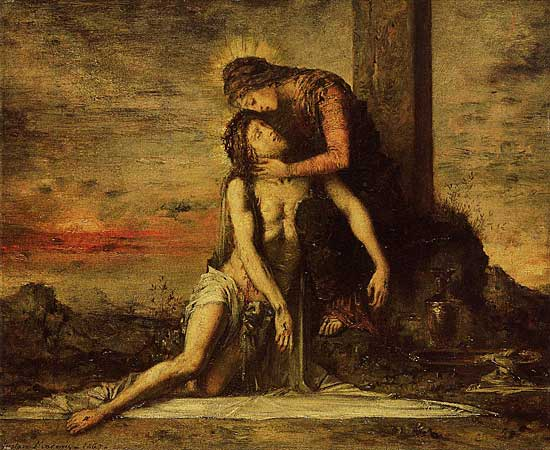 Pieta, Gustave Moreau (22X28.6)