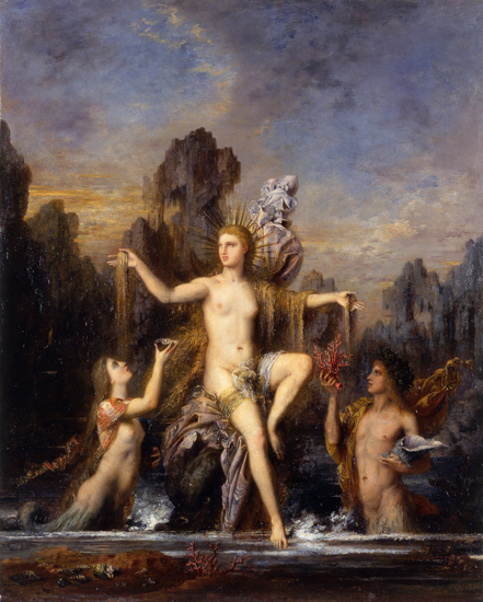 Venus Rising from the Sea, Gustave Moreau (22X27.5)