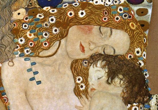 Mother and Child, Gustav Klimt (14X20)
