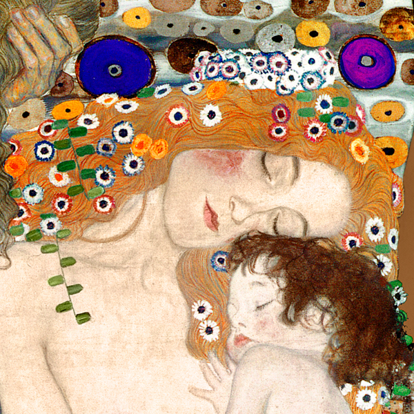 Mother and Child (detail), Klimt