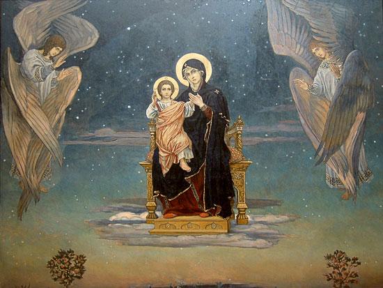 Mother of God, Victor Mikhailovich Vasnetsov
