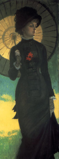 Mrs. Newman witha Parasol, James Joseph Jacques Tissot (13X34)