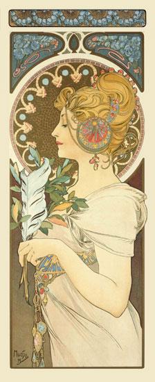 Feather, Alphonse Mucha