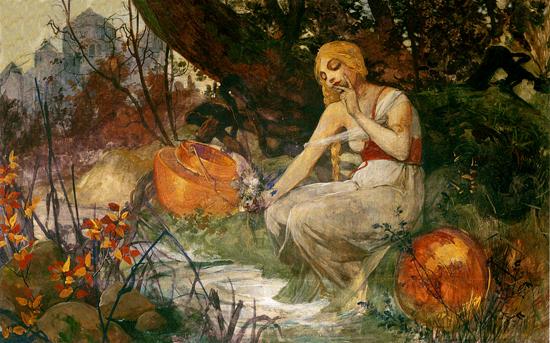 The Prophetess, Alphonse Mucha (16x25.5)