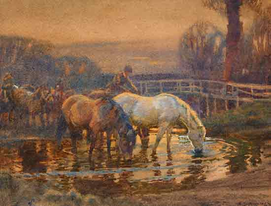 Crossing the Ford, Sir Alfred Munnings