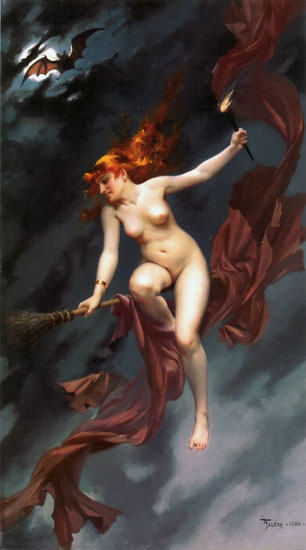 Muse of the Night, Luis Ricardo Falero (16.7X30)