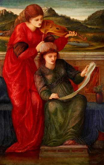 Music, Burne-Jones (14X22)